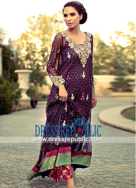 Magenta Stodden - DR11068, Tena Durrani Wedding Party Wear Dresses 2013, 2014 in California, USA by www.dressrepublic.com