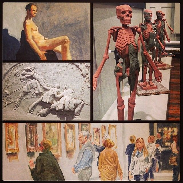 Come by our gallery this week for a unique show featuring students of Dan Thompson, Frank Porcu, Oestreicher & Raccioppi, Leonid Brener, and Terence Coyle. #PaintingFromLife #Ecorche #BasRelief #OilPainting #Anatomy #Watercolor #DrawingFromLife