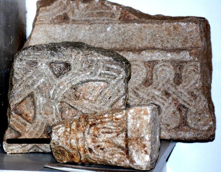 Bar (Antivari), Montenegro: fragments of pre-romanesque reliefs, 9th c. Photo by Herwig Stieber.