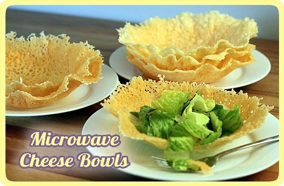Cheese Bowls. Easy to make and a great idea for dinner parties!