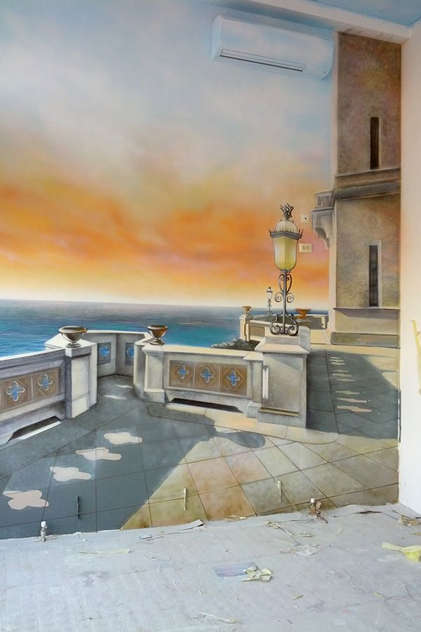tromle l'oeil painting by Alexey Proshin