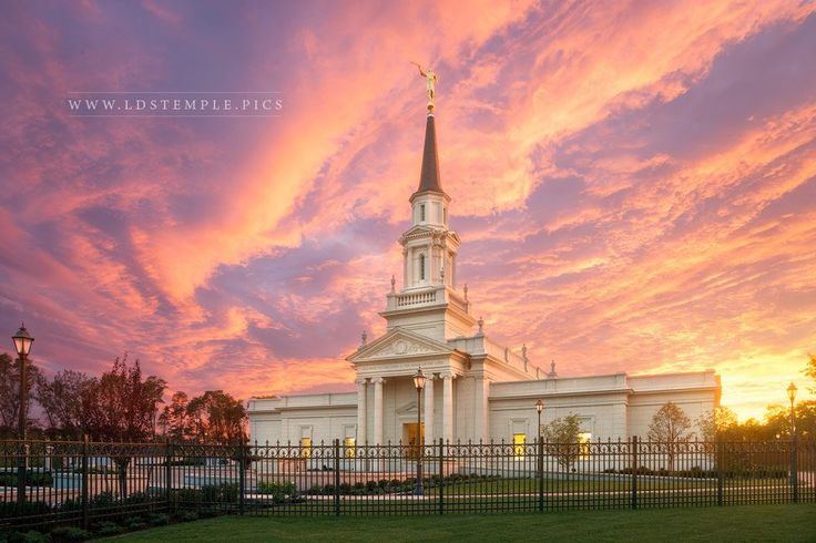 Hartford Temple Heavenly Light - Heavenly light shines on the Hartford Connecticut Temple. One of the most stunning sunsets every witnessed by the photographer, Rory Wallwork. A true moment to remember.