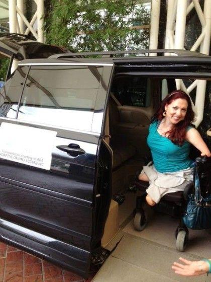 Ms. Wheelchair America Exits Her Wheelchair Van ...