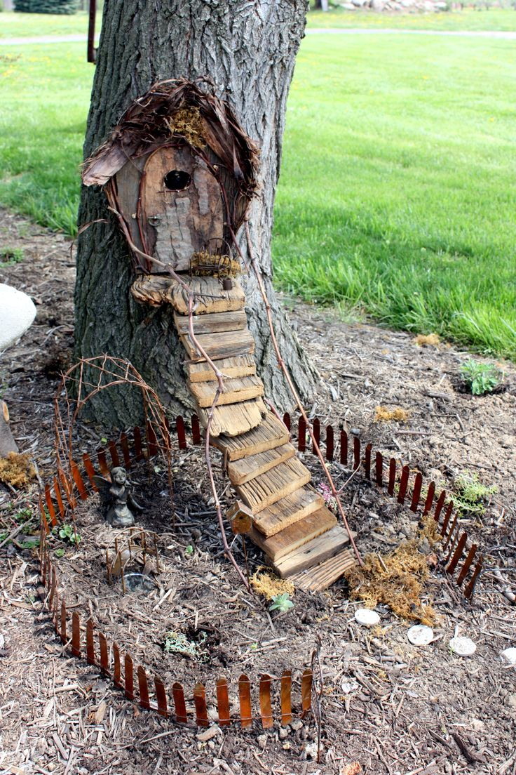 Gnome Garden: 101 Best Images About Tree Stump Gnome Homes On Pinterest