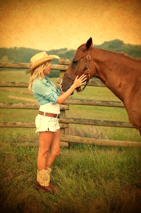 Cute cowgirl picture
