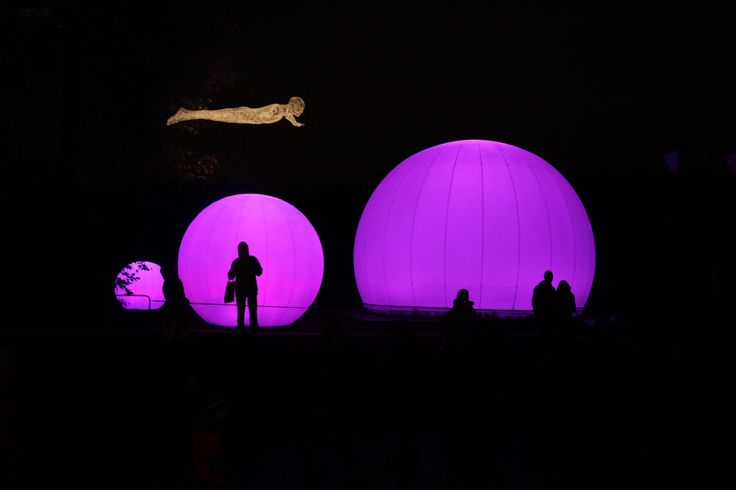 """Lucion - """"Les Volières"""" in Moscow, light installation  http://www.lucionmedia.ca"""