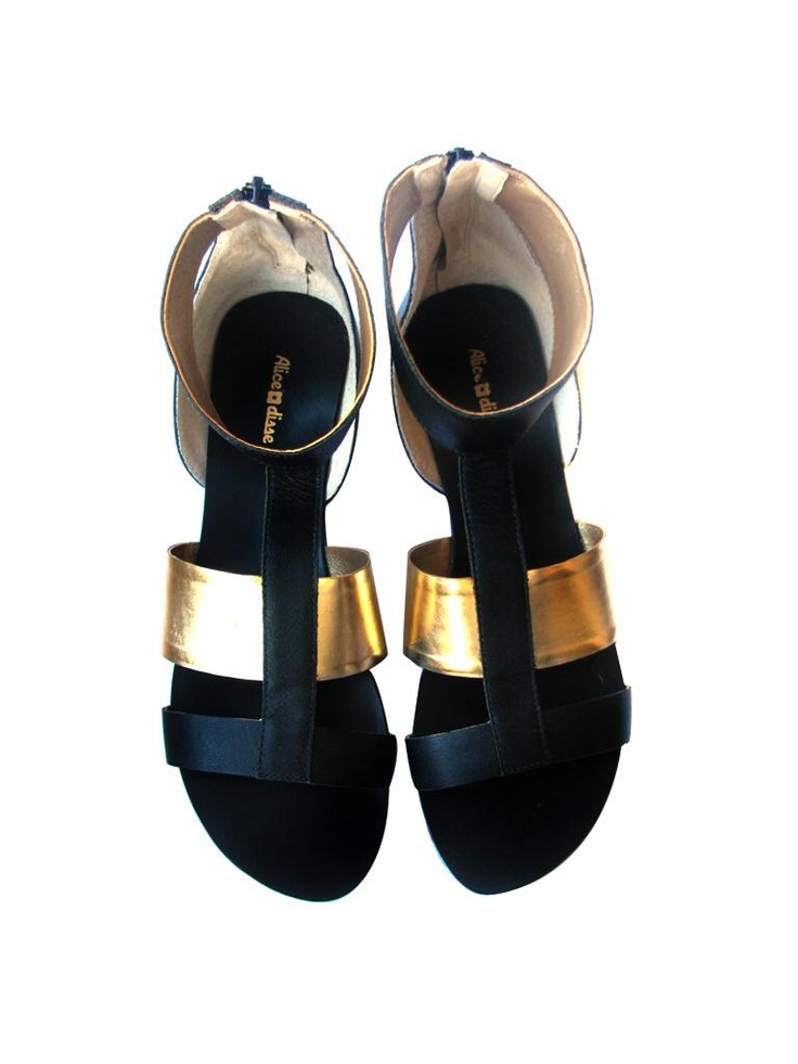 Sandália gladiadora preta - R$89 - Alice Disse