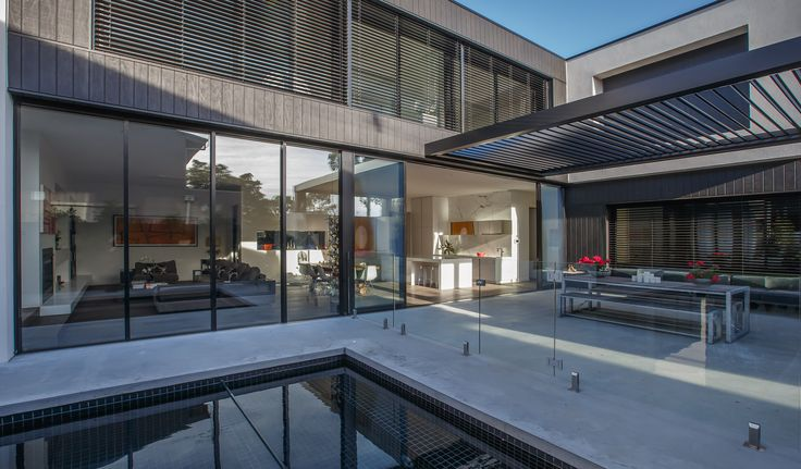 Louvretec opening roof creates perfect shade control outdoors