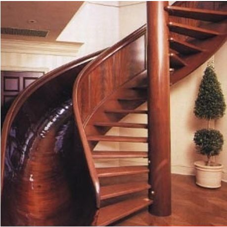 Always wanted one of these!: Spiral Staircase Slide
