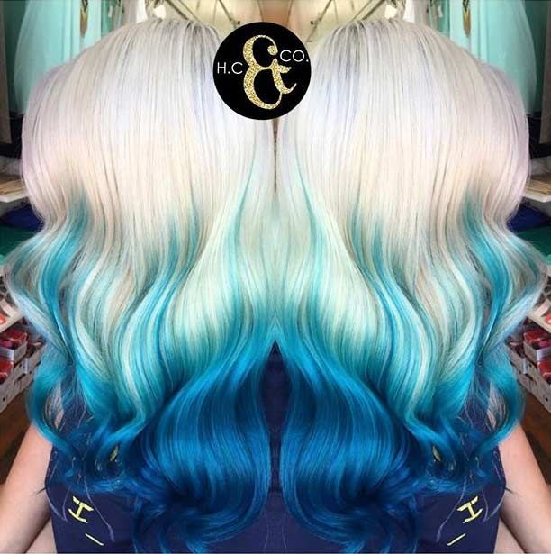 Best 25 Blue Tips Ideas On Pinterest  Blue Tips Hair Colored Hair Tips And