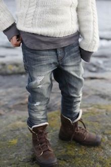 Denim + Knit. <3 // Little Svandinavian. Always love Scandinavian design and fashion. Cute look for the boys:)