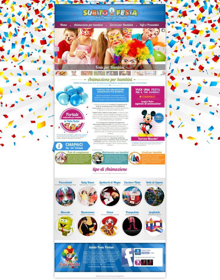 www.subitofesta.it portale di animazione e intrattenimento per bambini, organizzazione feste di compleanno in tutta italia: Roma, Milano, Bologna, Genova, Torino, Bergamo, Parma, Vicenza, Venezia, Rimini