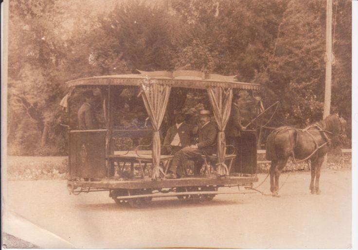 Plaza de Armas de Santiago de Chile. Año 1900. Transporte público