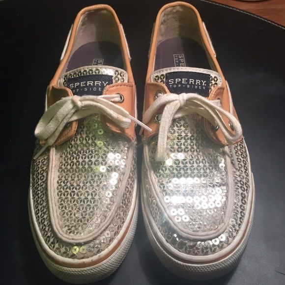 Sperry Topsider Sequin Gently worn like new sparkly sequin sperry topsiders Sperry Top-Sider Shoes Sneakers
