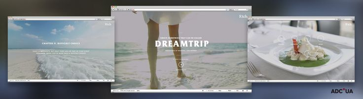 European Design - Dreamtrip. Thousands of wanting, one winner Agency: AdPro Isobar, Agency URL: http://adpro.ua, Category: 12. Promotional Site, Award: Bronze, Year: 2014, Country: Ukraine, City: Kyiv