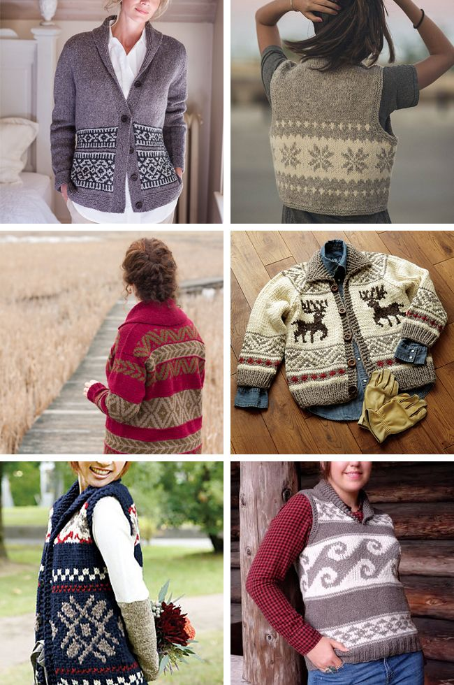 The pattern: Cowichan-style Geometric Vest by Pierrot Yarns (free pattern) The schedule: Start now or whenever. Knit at your own pace!