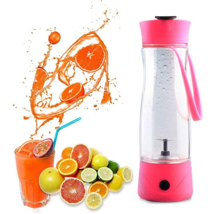 Hqdeal Electric Juicer Fruit Mini Sports Bottle Juicing Blender Juice Extractor
