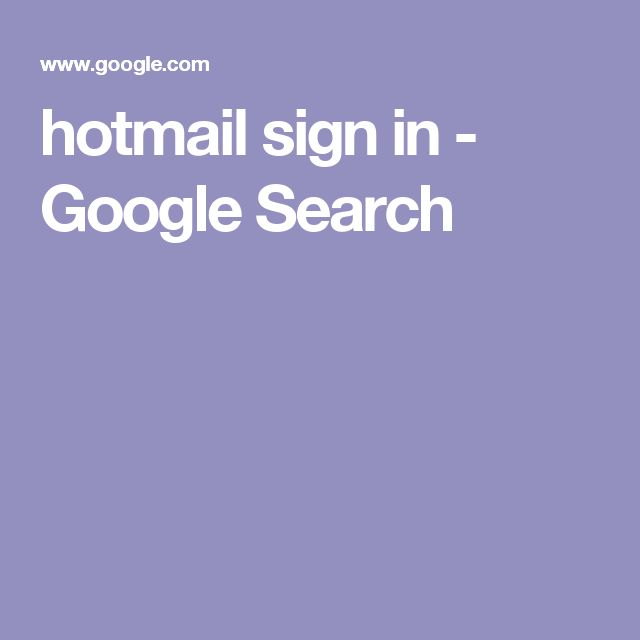 hotmail sign in - Google Search