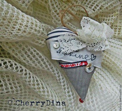 """Сердечко """"Марина"""" - сердце,сердечко,подвеска,морской стиль,винтаж,День Святого Валентина"""