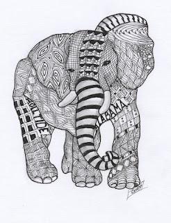 Elephant all tangled