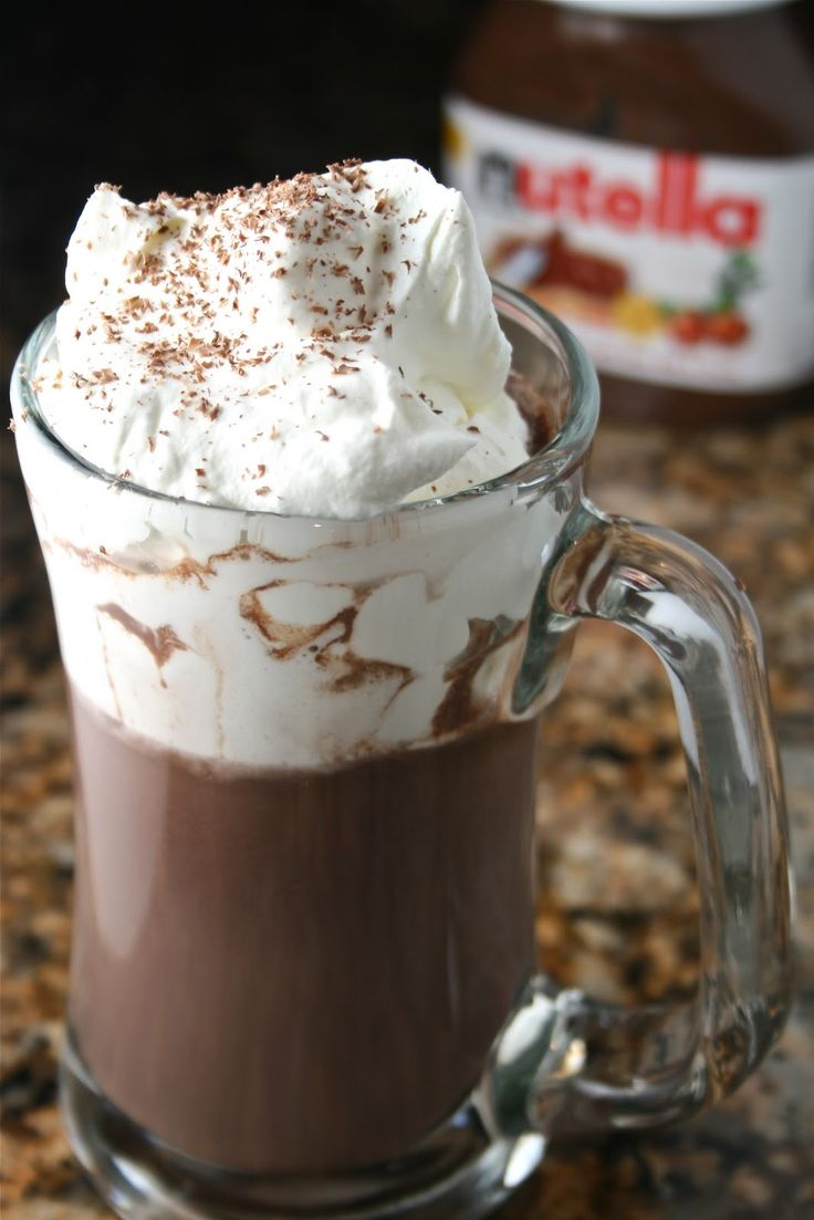 Nutella Hot Chocolate. Pinner says, This is best hot chocolate you will ever experience. It will become a weekly treat in your house. Another winter treat to try