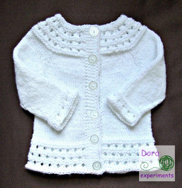 Dora experiments / baby kardigan / sweterek dla niemowlaka