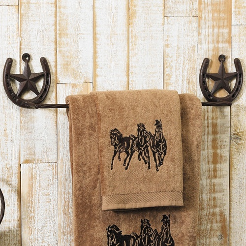 Western Star Towel Bar - eclectic - towel bars and hooks - other metros - by Lone Star Western Decor