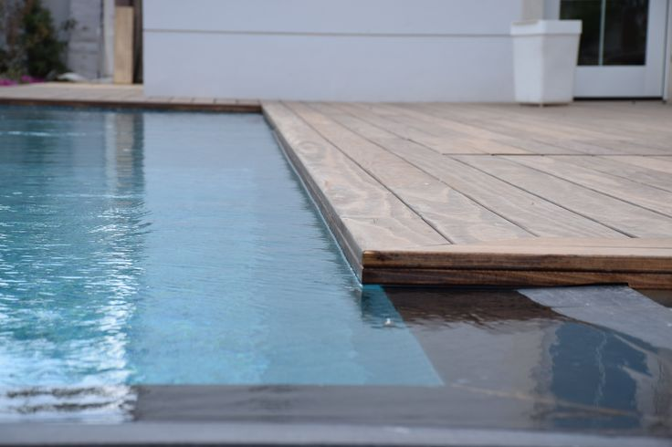 Accoya® has been used for a swimming pool decking area and under water deck. #accoya #wood