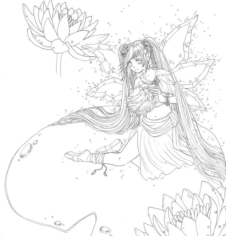 water fairy coloring pages - 425 best images about v rityskuvat keijut on pinterest