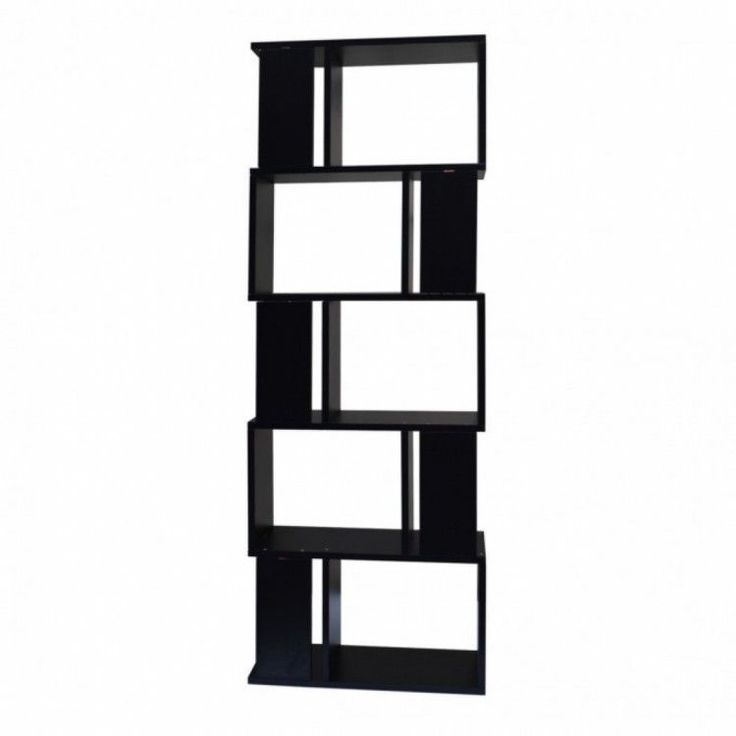 Modern Home Shelving Unit Display Storage Furniture Bookshelf 5 Tier Wood Black #ModernHomeShelvingUnit #Modern