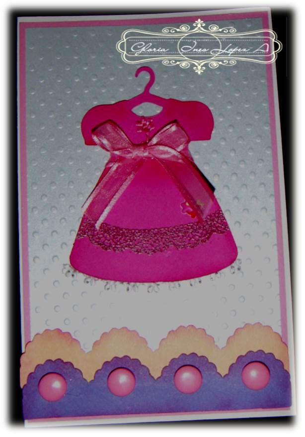 tarjeta vestido invitacion cumpleaños