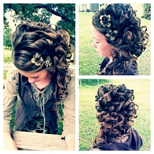 I did my sisters hair today to take her school pics! Hope you guys like it:)