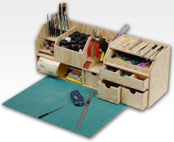 The Workshop Benchtop Organizer is the perfect model workshop, ideal for people who deal with modelling and other handcrafts where you need a large number of small precision tools and accessories. The Workshop Benchtop Organizer means you will always have a tidy work area with everything you need at hand. Helping you be more productive. Dimensions: Size : 60cm x 22 cm x 17 cm Main advantages of the Workshop Benchtop Organizer: - Dozens of different size hole for drill...