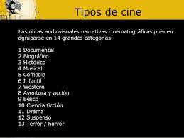 Existen diferentes tipos o géneros de cine dependiendo de lo que se quiera trasmitir a partir de ello
