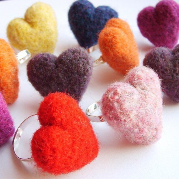 Love Ya a Bunch - Custom Color Heart Ring and Gift Bag Set