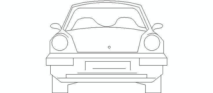 coche en alzado frontal, 01