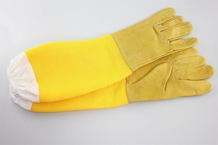 Anti bee gloves yellow sheepskin gloves long mesh breathable hollow bees sting out special products wholesale