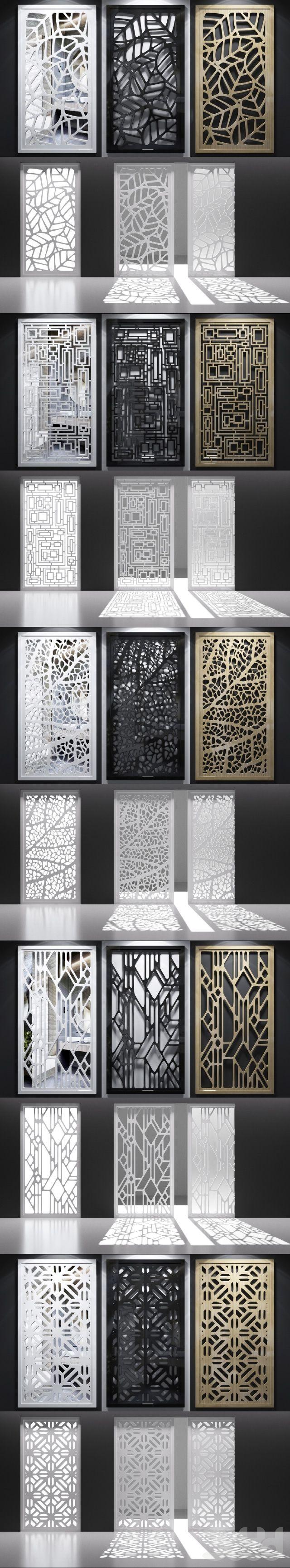 3d модели: Другие предметы интерьера - Набор декоративных панелей_05