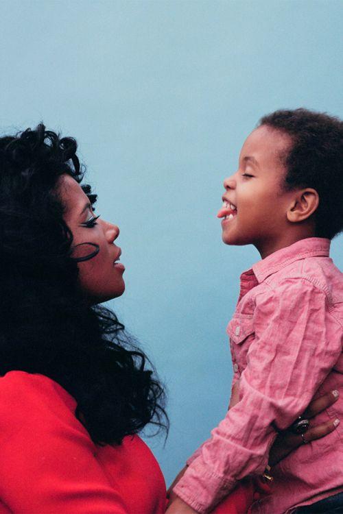 Kelis & her son Knight