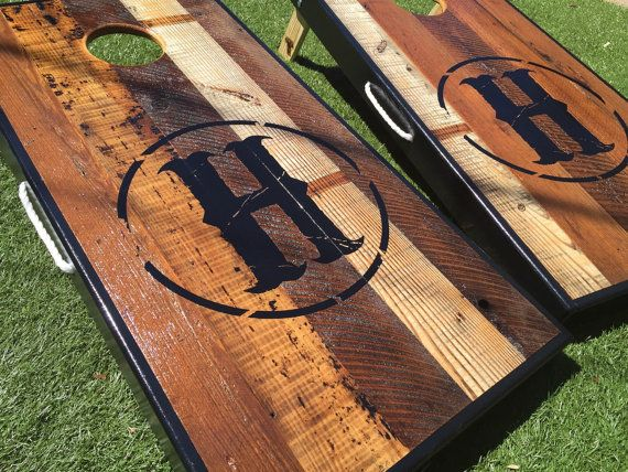 100 Year Old Reclaimed Barnwood Custom Cornhole by WGCornhole