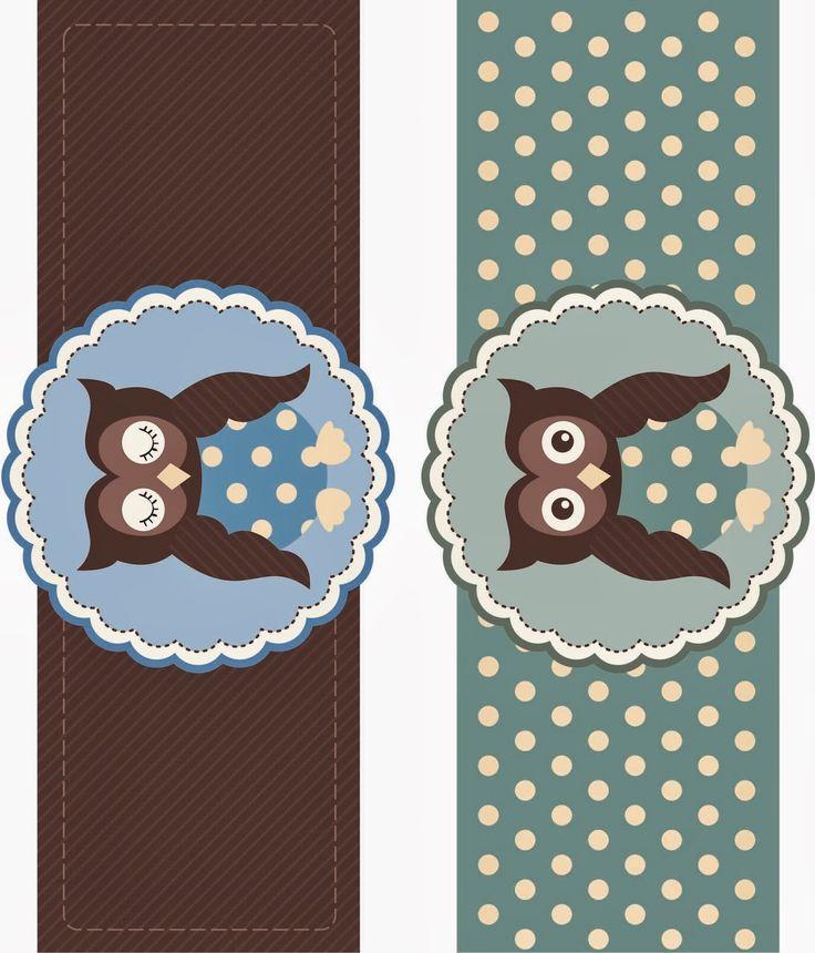 Owls Free Printable Mini Kit.