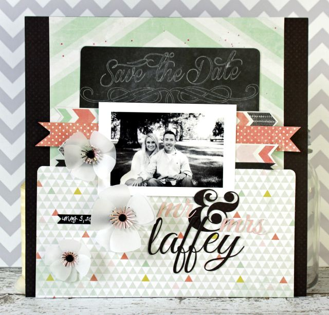 Guest Designer Jen Chesnick The ChalkboardScrapbook PagesScrapbooking LayoutsChalkboardsDatesMemoriesSketchCraft IdeasWedding Ideas