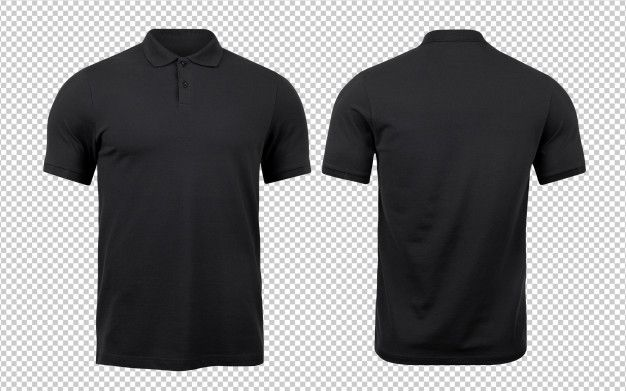 Black Polo Mockup Front And Back Used As Design Template Polo Shirt Design Polo Design Slim Fit Polo Shirts