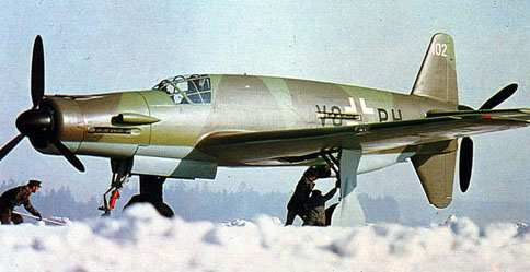 """Dornier Do 335 PFEIL (""""Arrow"""") was a World War II heavy fighter built by the Dornier company.  The two-seater trainer version was called Ameisenbär (""""anteater""""). Its performance was much better than other twin-engine designs due to its unique """"push-pull"""" layout and the much lower aerodynamic drag of the in-line alignment of the two engines. It was Germany's FASTEST piston-engined aircraft of World War II.The Luftwaffe was desperate to get the design into operational use, but delays in engine…"""