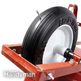 """Is the tire flat every time you go to use your wheelbarrow? Do you use your wheelbarrow on construction sites where nails can be a problem? If so, then you need a """"flat-free"""" wheelbarrow tire. Flat-free tires are filled with foam or made of urethane so they never need air and won't go flat if you run over a nail. And they're not just for wheelbarrows. You can also buy flat-free tires to fit lawn mowers and lawn tractors, handcarts and golf carts. Expect to spend about $30 for a wheelbarrow…"""