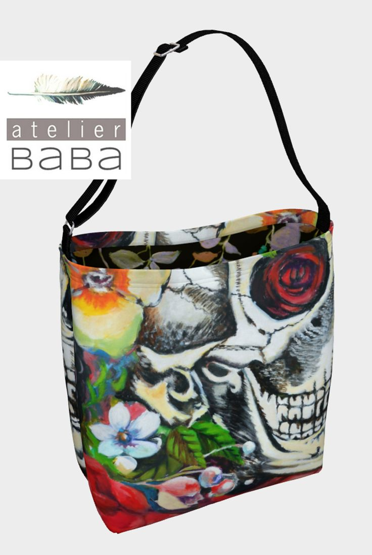Memento Skull Tote Bag by atelierbaba on Art of Where