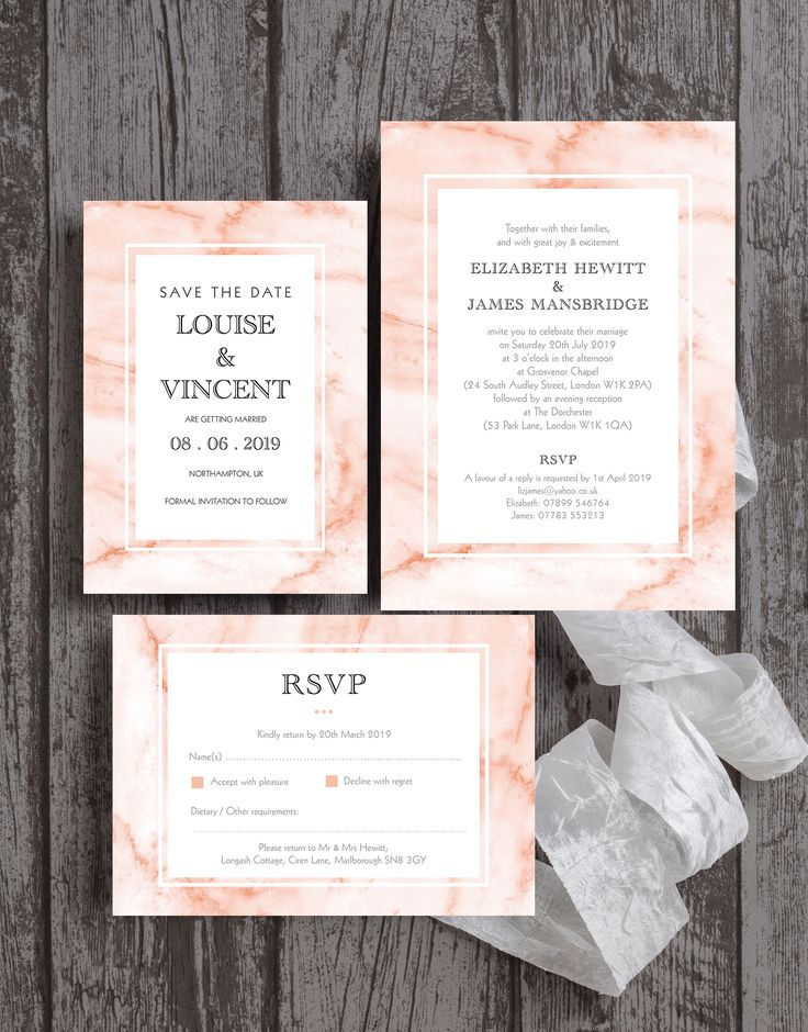 summer wedding invitation wording%0A Elegant and modern blush pink marble effect wedding stationery by Hip Hip  Hooray  Perfect for a spring or summer wedding  with watercolour    watercolor