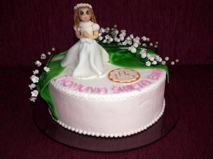 Tort I Komunia Święta z konwaliami/ 1st Communion cake