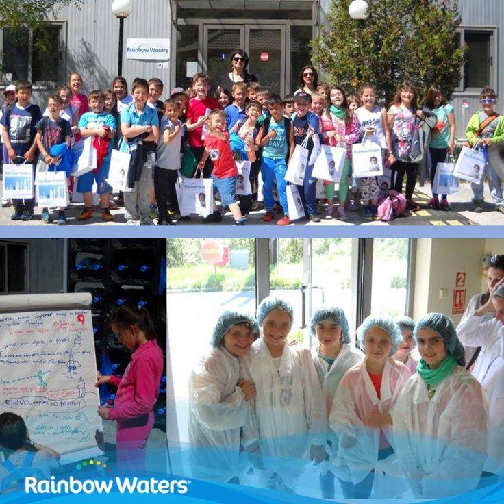 Ξενάγηση παιδιών στο εμφιαλωτήριο της Rainbow Waters!  Το Δημοτικό Σχολείο Κατσικάς επισκέφθηκε το εργοστάσιο του νερού Διώνη. Τα παιδιά είδαν από κοντά τη διαδικασία εμφιάλωσης του νερού και τους εκατοντάδες ελέγχους ποιότητας που πραγματοποιούνται σε κάθε στάδιο.