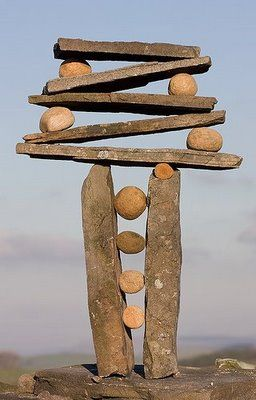 "great picture to inspire kids in the block corner to try their own balancing ""tricks""."